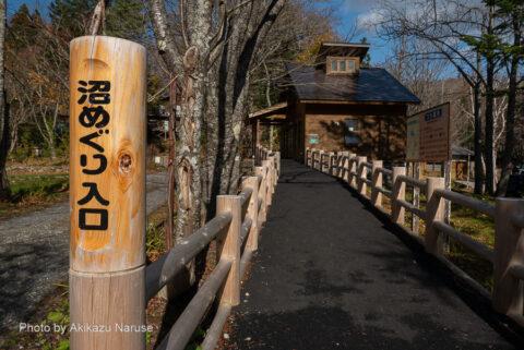 蔦の森:沼めぐり入り口とビジターセンター。