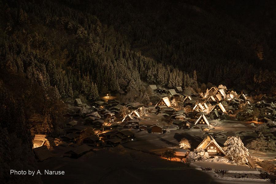 483:雪の白川郷 ライト・アップ